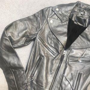 NWOT Rudsak Gun Metal Leather MOTO Jacket